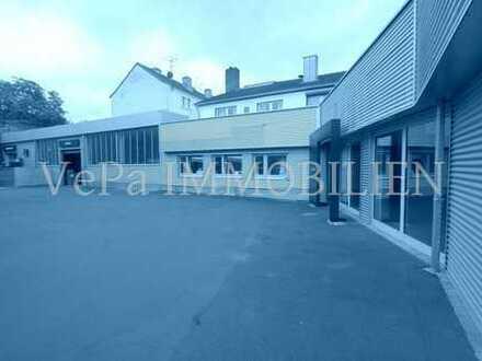 GEWERBEIMMOBILIE IN AUFFALLEND GUTER LAGE: Werkstatt, Lagerräume, Freifläche
