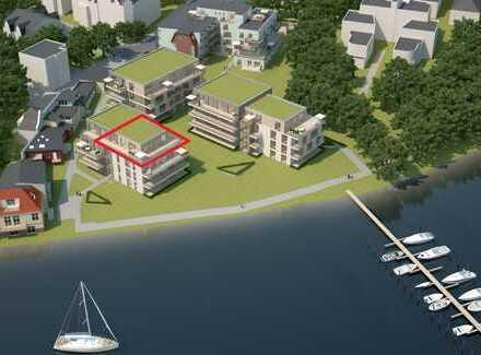 Luxus Penthouse-Wohnung umlaufende Terrasse direkt am Müggelsee