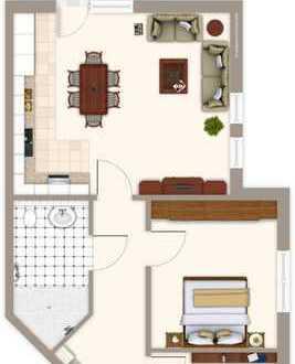 80 m² Erdgeschosswohnung mit Gartenanteil