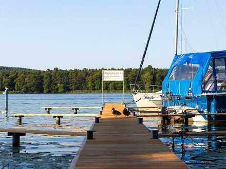 vermietete Eigentumswohnung mit Bootsanleger und Stellplatz