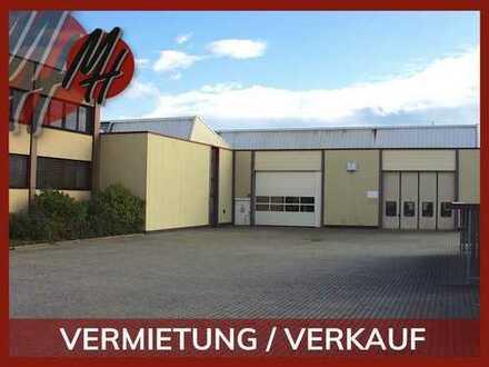 VERMIETUNG/VERKAUF! Gewerbeobjekt mit Lager-/Produktionsflächen (5.900 qm) & Büroflächen (1.900 qm)