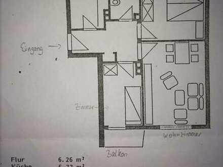 Schöne 3-Zimmer-Wohnung mit Balkon und Einbauküche in der Oberstadt