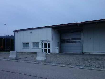 Beheizte Halle mit Bürogebäude zu vermieten