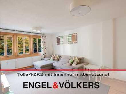 Wohnen wie im eigenen Haus: Tolle 4-Zimmerwohnung mit Innenhof mitbenutzung!