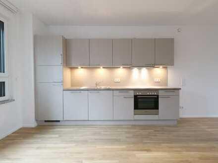 Aussichtsreich, inspirierend, modern - 2 Zi, 77 qm, Loggia und Einbauküche zum Erstbezug