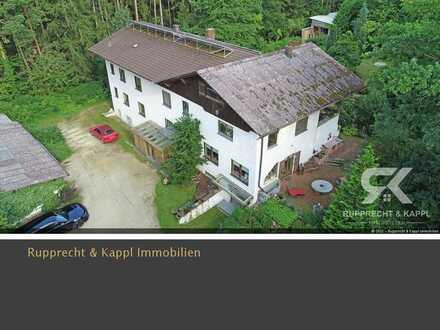 Großes Ein/Zweifamilienhaus mit Wald und uneinsehbarem Grundstück in einer ruhigen Lage nähe Ambergs