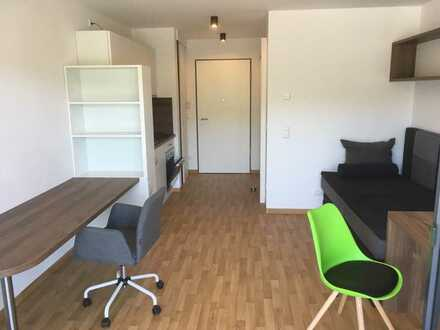Neuwertige möblierte Wohnung mit Balkon inkl. Stellplatz