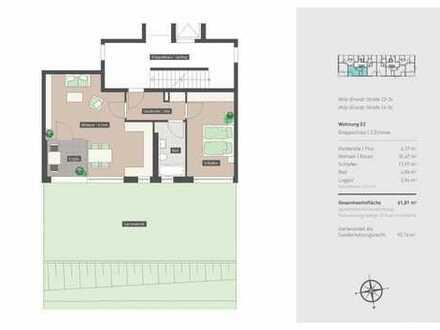 2-Zimmer-Neubauwohnung mit Gartenanteil