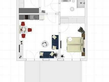 Neubau, 65,77 qm EG-Wohnung (2) mit Gartenanteil in Laer