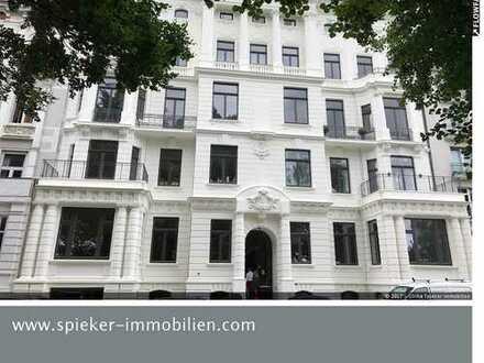Wohnen und Arbeiten in direkter Alsterlage/Hochherrschaftliche Jugendstilwohnung mit Garten