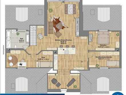 Exklusive Penthousewohnung -mit Einbauküche- hochwertig saniert- Erstbezug