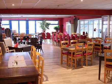 gepflegtes Club-Restaurant über der Tennishalle