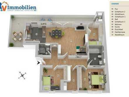 Schöne Neubauwohnung mit großer, sonniger Dachterrasse (Whg. 11)