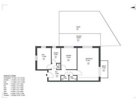 Erstbezug: geräumige 3-Zimmer-Wohnung mit Balkon und Terasse inkl. Garten in Pfedelbach