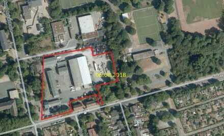 Citynahes Gewerbegrundstück in Kreuzungslage mit 8 vermieteten Gebäuden (Hallen und Büros)
