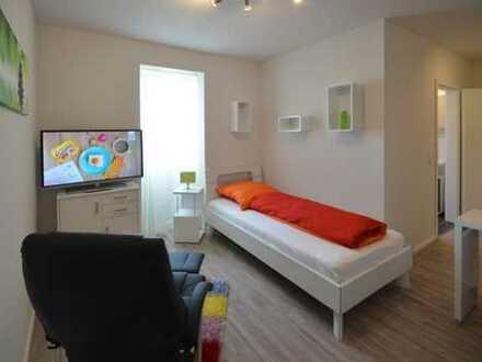 Möbliertes Apartment, voll ausgestattet, modern, zentrale Lage, gute Verkehrsanbindung Gewerbegebiet
