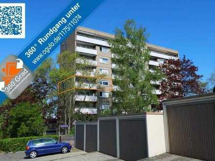 3-Zi.-Wohnung mit sonnigem Balkon und Aussicht im 4. Obergeschoss mit Aufzug!
