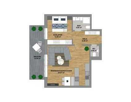 Im Herzen von Sonthofen - attraktive Neubauwohnung im 2. Obergeschoss mit Tiefgarage zu verkaufen.