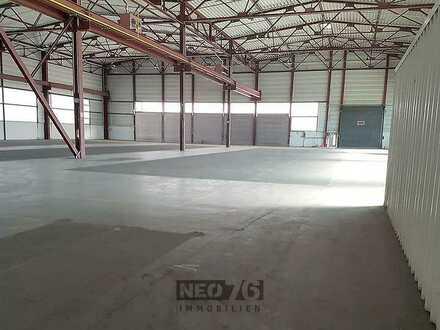 beheizbare 5.000 m² mit Rampen zu vermieten