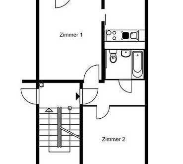 2 Zimmerwohnung mit Balkon - 5.OG ohne Aufzug - WBS erforderlich!
