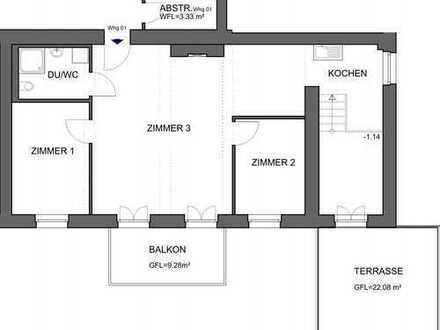 Wunderschöne 3-Zimmer-Wohnung mit Balkon und Terrasse in Rastatt
