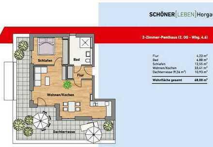 Schöne, helle, geräumige zwei Zimmer Wohnung in Augsburg (Kreis), Horgau mit großer Dachterrasse