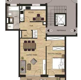 Neubauvorhaben 2 - Zimmer Wohnung mit Balkon im 1. OG