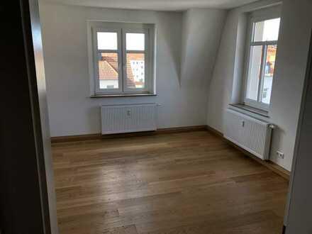Erstbezug nach Sanierung: exklusive 2-Zimmer-Wohnung mit EBK und Balkon in Brandis, Nichtraucher