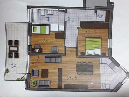 Stilvolle, neuwertige 3-Zimmer-Wohnung mit großzügigem Balkon und hochwertige EB-Küche in Geisenfeld
