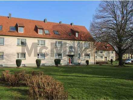 Zentral in Duisburg-Huckingen: Aktuell vermietete 3-Zi.-ETW in gepflegtem Zustand