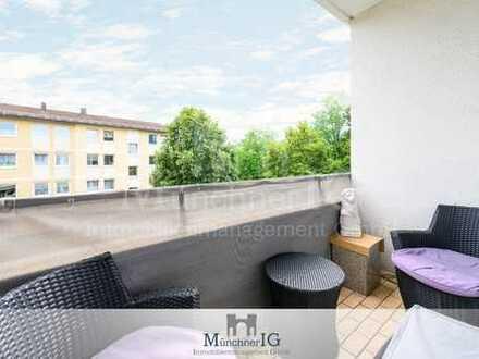 MÜNCHNER IG: 3 Min.U2-Lichtdurchflutete & gut geschnittene 3 Zimmer Wohnung mit Süd-Balkon!