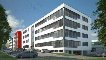 Repräsentativer Neubau eines Bürogebäudes mit bestehender Lagerhalle am gleichen Standort