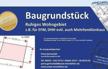 Wohnen / Bauen in TOP Lage - Grundstück zum Bau einer Wohnimmobilien! - Ein Objekt von Ihrem Immo...
