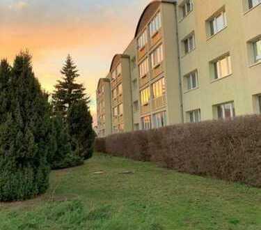 3 Räume, Balkon, Einbauküche und ein grünes Umfeld