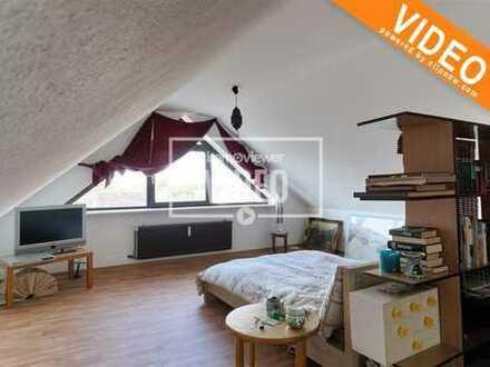 Provisionsfrei! Vermietete Dachgeschosswohnung mit viel Platz, Garage und Ausblick ins Grüne