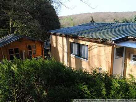 Ein Mobilheim in Waldrandlage