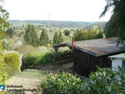 *Friolzheim: Gartengrundstück in attraktiver Aussichtslage!*