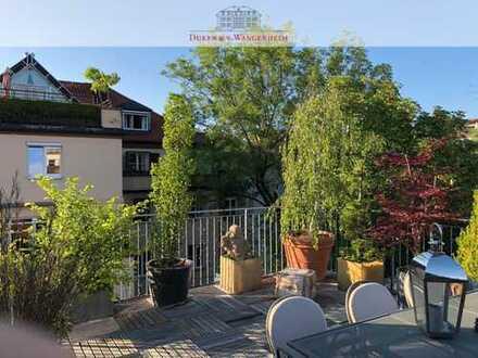 Rooftop-Terrasse bestes Neuhausen. Idyllisch im Hinterhof.
