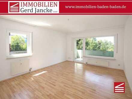 Baden-Baden, sehr gut geschnittene 2-Zimmer-Wohnung mit Balkon, Aufzug & TG-Stellplatz!