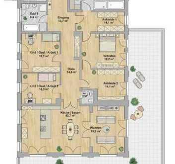Sonnige Wohnung mit ca. 122m² Dachterrasse,2 Tageslichtbädern,Sauna wartet auf SIE !