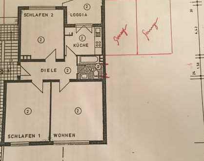 Schöne, renovierte 3-Zimmer-Erdgeschosswohnung mit Loggia und Garten in Braunsfeld, Köln