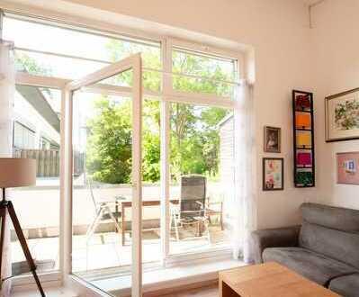 Sonnige 2-Zi-Penthouse-Wohnung direkt an den Wertachauen in Kaufbeuren (Kernstadt)
