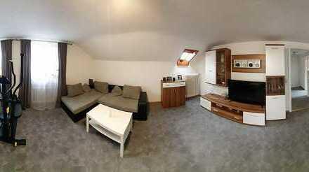 Gepflegte und gut aufgeteilte 2 Zimmer DG-Wohnung