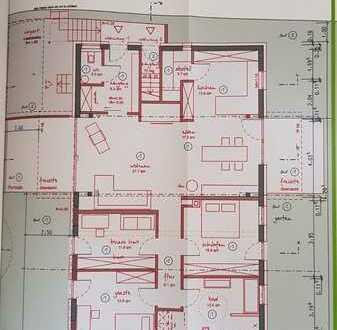 Neuwertige 4,5-Zimmer-Wohnung mit Balkon und Einbauküche in Oedheim