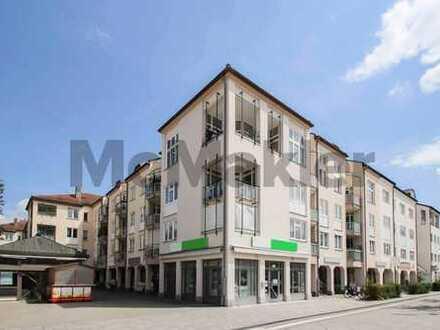 Zentral und mit idealer Anbindung an München: Vermietete 2-Zi.-Wohnung mit Süd-Loggia