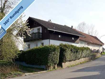 Apfeltrach: Einfamilienhaus mit Garage, Werktstatt und großem Grundstück