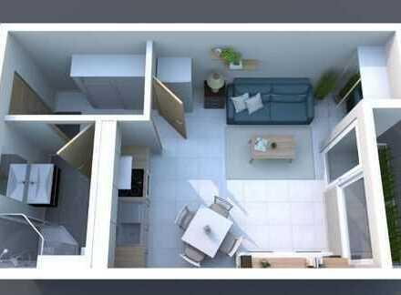 Von Privat: Möblierte 1-Zimmer-Wohnung, Balkon, EBK, Swimmingpool & Sauna in Wendlingen/Neckar