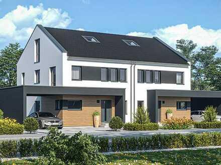"""""""Einfach Wohlfühlen"""" Neubau von Doppelhaushälfte mit 160 m², inkl. Grundstück, Bodenplatte & Carport"""