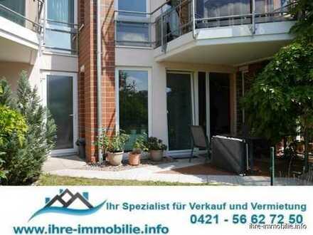 HB-Findorff/Weidedamm: Gepflegte 3 Zimmer-Erdgeschosswohnung mit großer Terrasse, Garten u. Keller