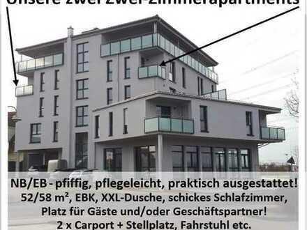 NB/EB - Zwei-Zimmer-Apartments - pfiffig-pflegeleicht-praktisch!